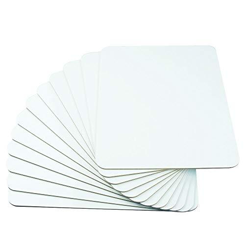 Lockways Lapboard Whiteboard Schreibtafel - dry erase Board 23 x 30 cm,12 White Boards, ideal für Lehrer, Schüler, Unterricht, Präsentationen, Büroarbeit