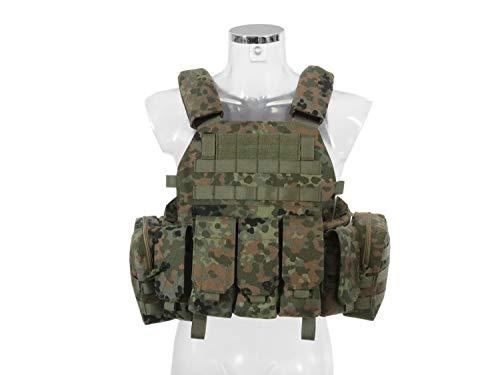 BEGADI Value Plattenträger/Plate Carrier Set aus Nylon, Komplettset mit 5 Taschen - Flecktarn