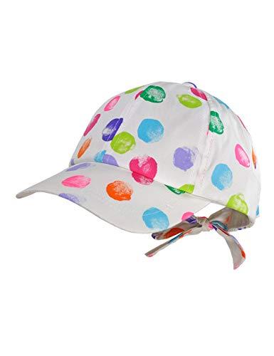 maximo Baby-Mädchen Cap Kappe, Mehrfarbig (Weiß-Multicolor Punkte 1), (Herstellergröße: 49)