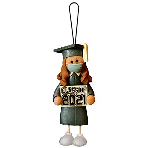 SommerCat 2021 Abschluss Ornament Gedenk Hängende Pandent Junge Mädchen Bachelor Hut Puppe Anhänger Abschluss Statue,Abschluss Ornament,Kuscheltier,2021 Abschluss Gedenk Anhänger 3 Zoll