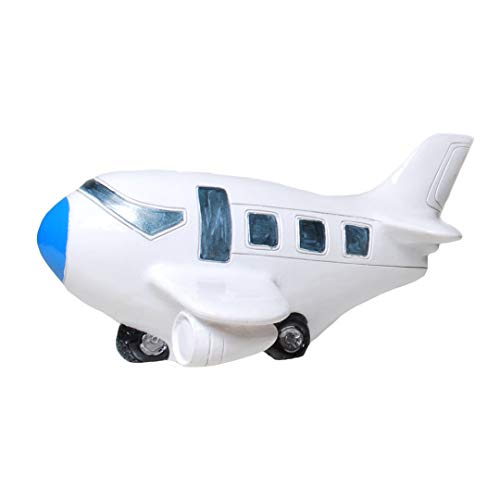 Topshop24you wunderschöne Spardose Urlaubskasse,Reisekasse Flugzeug mit Pfropfen ca. 16,5 cm groß