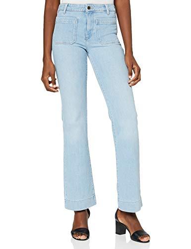 Wrangler Flare Jeans, Bleu Transparent, 29W x 30L Femme