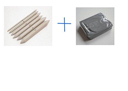 Set Papierwischer 6er Set versch und Knetradiergummi, Duraluminium für Künstler-Küchenhilfe - Raum Beaux Arts