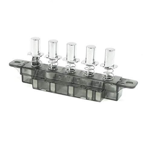 DULALA Interruptor 5 Pulsador Tipo de Piano Interruptor de Teclado para Campana extractora (MQ165 AC 250V 4A)
