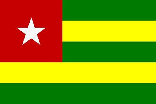 Sonia Originelli Fahne Flagge Länder Städte 90 x 150cm Fußball WM Fan Party Farbe Togo