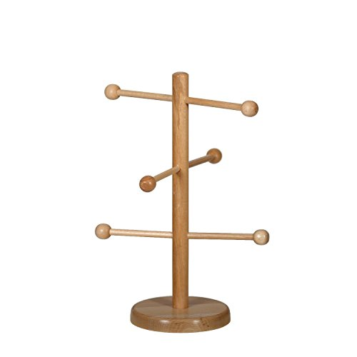 Bütic Holz Brezelbaum, Brezelständer, Gebäckständer aus Buche, Verschiedene Modelle, Artikel:Höhe 37cm