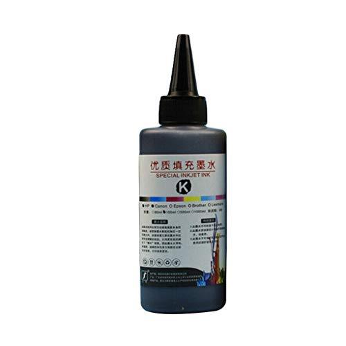 JUNESUN 100ML Recharge Kit Encre Universel Imprimante Colorant Fournitures de Bureau Papier Remplacement pour Canon PG-245 CL-246 PIXMA MG2420 MG2520 MG2920 MG2922