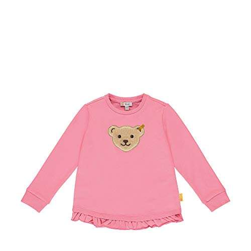 Steiff Baby-Mädchen Sweatshirt, Rosa (Pink Carnation 3019), (Herstellergröße: 104)
