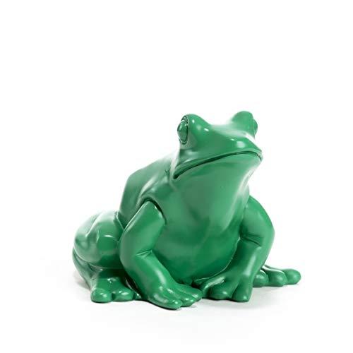 Le Roi Grenouille Vert de L'Artiste Ottmar Hörl -Editions Multiples 1999 - Dimensions: 10 x 12 x 14 cm