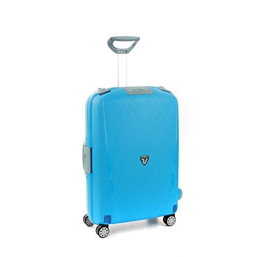 Roncato Light Maleta Mediana Azul, Medida: 68 x 48 x 27 cm, Capacidad: 80 l, Pesas: 3.80 kg