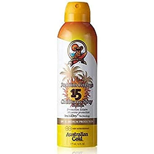 Australian Gold SPF 15 Spray copertura Premium, 10130, Confezione 1er (1 x 0,177 l)