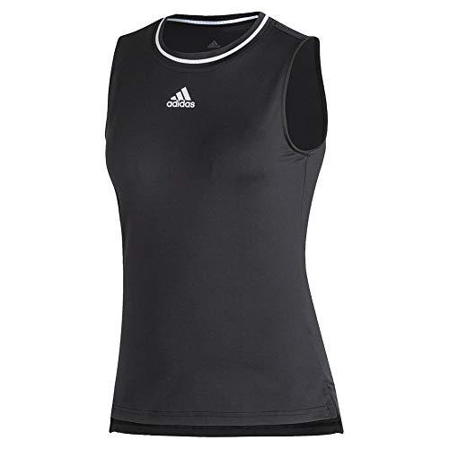 adidas Club Tank Camisa, Negro/Blanco, L para Mujer