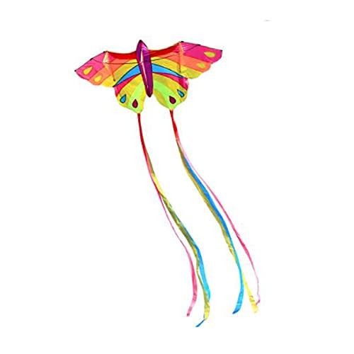 Cometa de Mariposa Colorida, Cometa Grande y fácil de Volar para Adultos, Gran Playa y Juguetes Familiares al Aire Libre