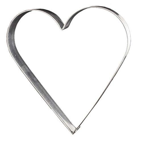 Ausstecher Lebkuchenform Herz Keksausstecher Plätzchenform, ca.12 cm, Weißblech