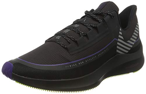 Nike Zoom Winflo 6 Shield, Zapatillas de Atletismo Hombre, Multicolor (Oil Grey/Reflect Silver/Black 002), 44 EU