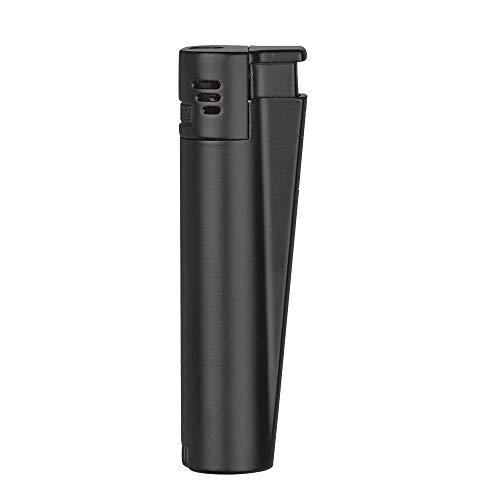 Clipper Metall Laser_Jet Gas-Feuerzeug (matt_schwarz) mit SOFORTGRAVUR +VORSCHAU: Gravur auf Einer Seite (Gasfeuerzeug nachfüllbar)
