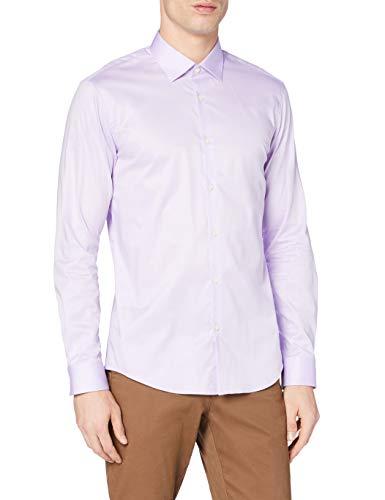 Marchio Amazon - MERAKI Camicia da Cerimonia Uomo, Viola (Lilac), XL, Label: XL