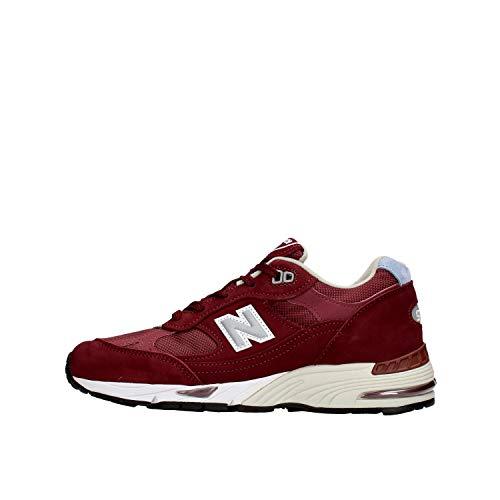 New Balance 991 Damen Sneaker Bordeaux W991BBL, Rot - Bordeaux - Größe: 40 EU
