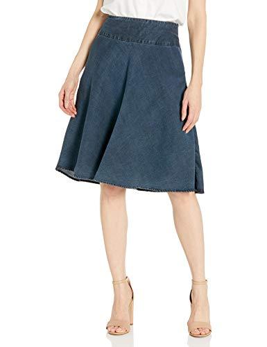 NIC+ZOE Women's Denim Summer Fling Flirt Skirt, Indigo, 4