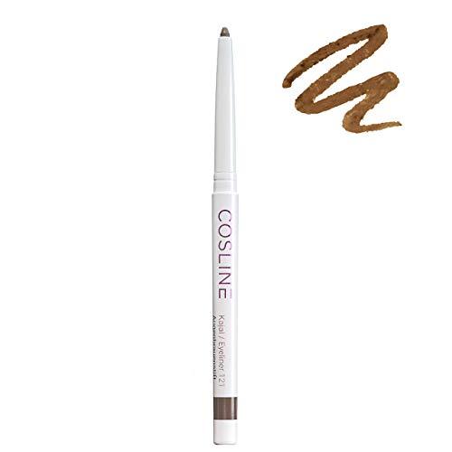 COSLINE Kajal und Eyeliner Twist Nr. 121 Farbe: Chocolate, Braun-Anthrazit