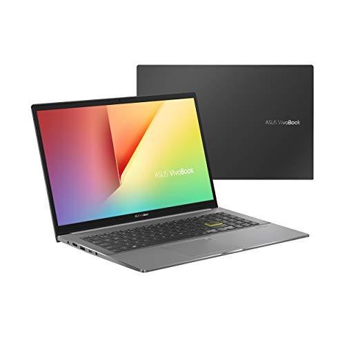 ASUS VivoBook S15 S533EA-BQ003T - Portátil de 15.6' Full HD (Core i7-1165G7, 16GB RAM, 512GB SSD, Iris Xe Graphics, Windows 10 Home) Negro Indie - Teclado QWERTY español