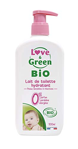 Love & Green Lait de Toilette Hydratant Bio 0% 500 ml