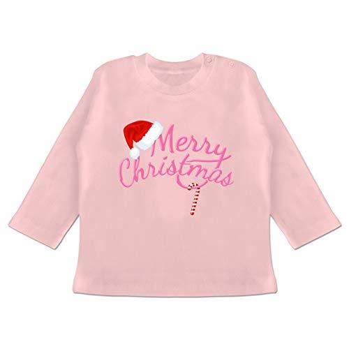 Weihnachten Baby - Merry Christmas- rosa - 12/18 Monate - Babyrosa - Geschenk - BZ11...