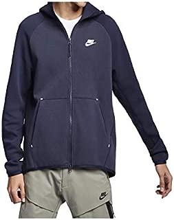 Mens Tech Fleece Full Zip Hoodie Sweatshirt Obsidian Heather/White 928483-473 Size X-Large