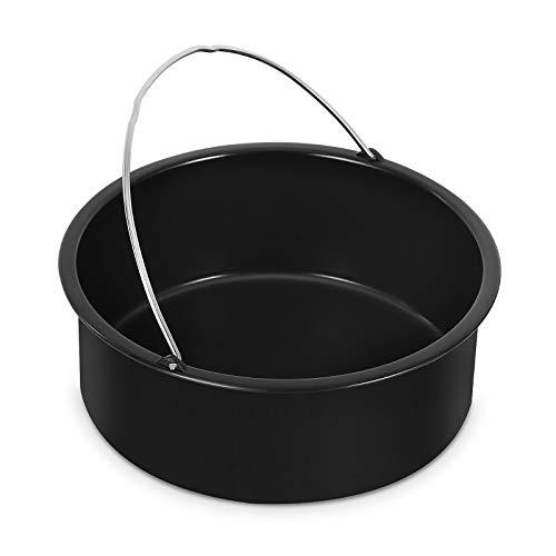 Esjay Molde redondo para tartas de 17,7 cm de profundidad con asas compatible con Ninja Foodi 6 L, 7,5 L, olla instantánea de 5,7, 8 L