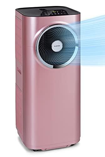 KLARSTEIN Kraftwerk Smart - Climatiseur Mobile, Déshumidificateur, Ventilateur, Minuterie programmable, Contrôle Via Application WiFi, Télécommande, 12000BTU/h - rose doré