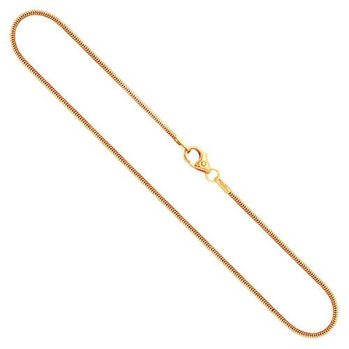 Goldkette, Schlangenkette Gelbgold 585/14 K, Länge 50 cm, Breite 1.2 mm, Gewicht ca. 4.4 g, NEU