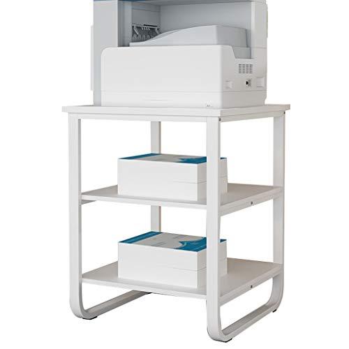 Zheng Hui Shop Ripiano per Stampante a Pavimento Porta Stampante Multistrato portaoggetti per ripostiglio libreria per Ufficio Cucina Rack per Forno a microonde Vassoi per Stampante