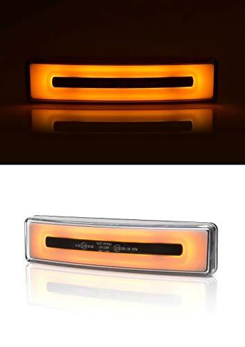Flexzon - Parasol de techo (1 luz LED de neón), color naranja