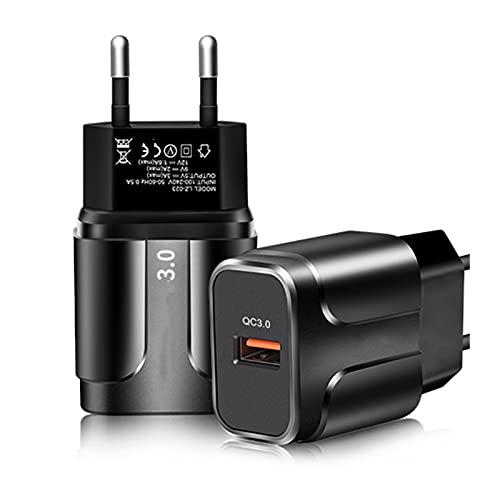 Pxbhd Cargador 3A Adaptador de teléfono móvil de Carga rápida de 18W para I-Phone12 Pro MAX EU/U.S.Enchufe el Cargador de Pared para X-IAOMI para H-UAWEI para el Adaptador S-AMSUNG