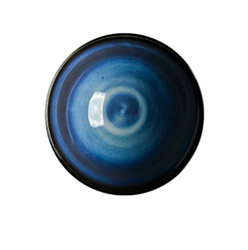 Stoviglie in ceramica ciotola di riso ciotola zuppa ciotola di porcellana ciotola noodle ciotola zuppa ciotola istantanea noodles ciotola casalinga 12,7 cm (colore: blu) (colore: A, dimensioni: 5pcs)