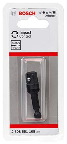 """Bosch Professional - Adaptador de control de impacto (1/4"""" hexagonal a 3/8"""" cuadrado, longitud 50 mm, accesorios para atornilladores de impacto)"""