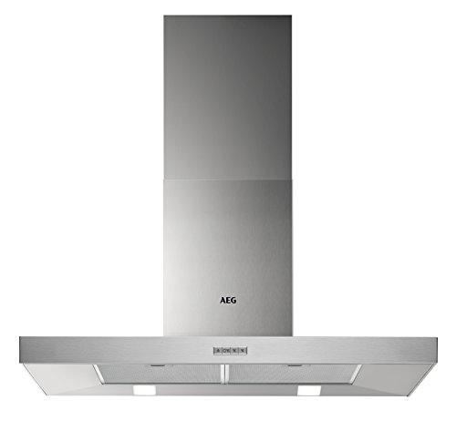 AEG DBB4950M Backstein-Kamin-Dunstabzugshaube / Abluft oder Umluft / 90cm / Edelstahl / max. 400 m³/h / min. 66 – max. 75 dB(A) / B / Kurzhubtasten
