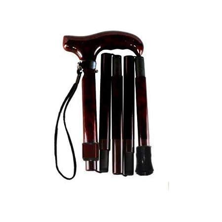 超軽量オールカーボンコンパクト折りたたみ伸縮杖/ダークワインPC04