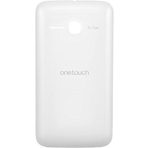 Original Alcatel Akkudeckel white / weiß für Alcatel One Touch 5020D M Pop (Akkufachdeckel, Batterieabdeckung, Rückseite, Back-Cover) - BCJ1740B1BC0