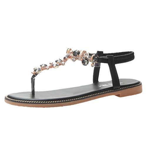 Skang sandalias para mujer - Camiseta de mujer con diamantes de imitación...
