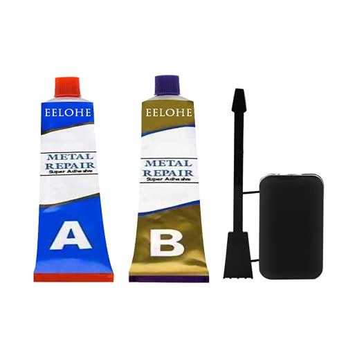 Pegamento Ab multifuncional, Agente reparador de metales mágicos, para soldadura Pegamento para soldadura de cemento plástico, Pasta de reparación de metal para soldadura en frío con
