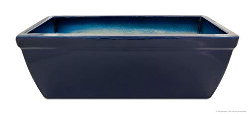 Pots de balcon 38 x 20 x 18 cm Résiste Au Gel en céramique de faïence de meilleure qualité que/Bleu