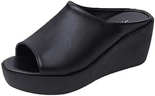 サンダルレディース 歩きやすい ウェッジソール ヒール ゴムサンダル 旅行 走れる かわいい 疲れない ウェッジ 靴 厚底 Kaiweini ゴム ブラック 黒 外反母趾 クロス ベルド コンフォートサンダル