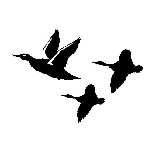 YYSDD Patos voladores calcomanías Adhesivas para Coche Creativo Decorativo pájaro Caza Aves acuáticas Motocicleta Coche Pegatinas 15 * 11Cm