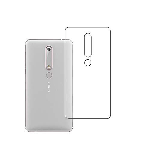 Vaxson 2 Unidades Protector de pantalla Posterior, compatible con Nokia 6 2018 [No Vidrio Templado] TPU Película Protectora Espalda Skin Cover