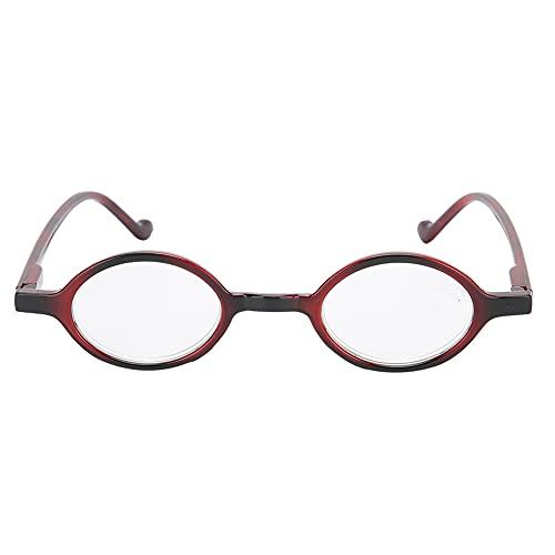 Gafas de lectura vintage - Gafas de bloqueo de luz azul Gafas de presbicia antifatiga Gafas de luz azul anti con estuche Lentes transparentes Gafas para ancianos Gafas de lectura(+400)