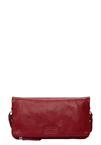 Liebeskind Berlin Damen Essential Aloe Crossbody Small Umhängetasche, Rot (Italian Red), 3x16x29 cm