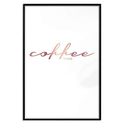 murando Poster Rose Gold Küche Coffee Kaffee 20x30 cm mit Rahmen Bilder Kunstdruck Plakat Wandbild Print Wandposter Gerahmt Wandbild Wohnung Wanddeko Design m-A-0872-ar-c