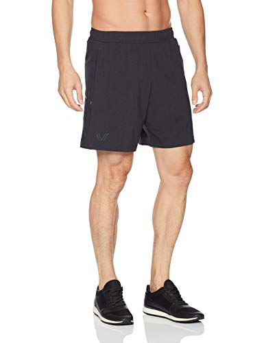 Amazon Brand - Peak Velocity Men's Build Your Own 2-in-1 Run Short (Multiple Inseams), black, Large