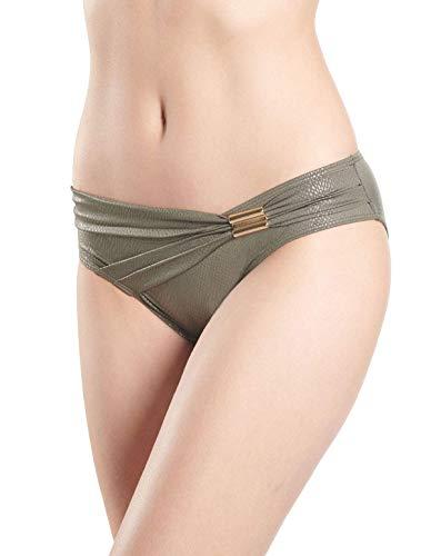 Aubade NT22 Women's Divine Cleopatre Kaki Green Swimwear Beachwear Brazilian Bikini Bottom 44